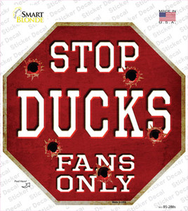 Ducks Fans Only Wholesale Novelty Octagon Sticker Decal