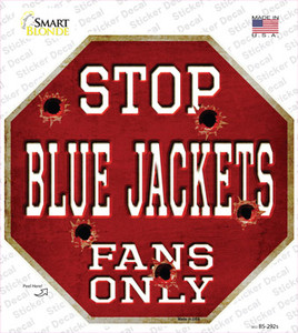 Blue Jackets Fans Only Wholesale Novelty Octagon Sticker Decal