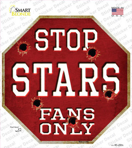 Stars Fans Only Wholesale Novelty Octagon Sticker Decal