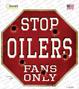 Oilers Fans Only Wholesale Novelty Octagon Sticker Decal