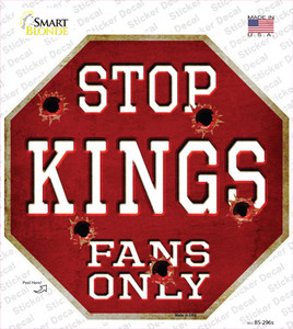 Kings Fans Only Hockey Wholesale Novelty Octagon Sticker Decal