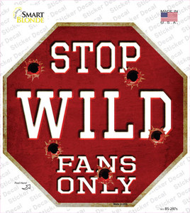 Wild Fans Only Wholesale Novelty Octagon Sticker Decal
