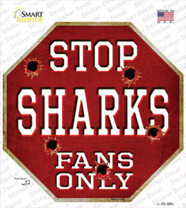 Sharks Fans Only Wholesale Novelty Octagon Sticker Decal