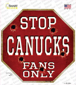 Canucks Fans Only Wholesale Novelty Octagon Sticker Decal