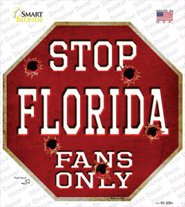 Florida Fans Only Wholesale Novelty Octagon Sticker Decal