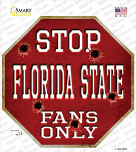 Florida State Fans Only Wholesale Novelty Octagon Sticker Decal