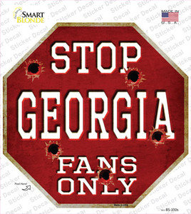 Georgia Fans Only Wholesale Novelty Octagon Sticker Decal