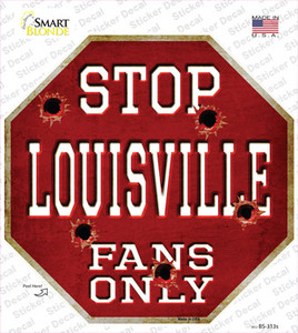 Louisville Fans Only Wholesale Novelty Octagon Sticker Decal