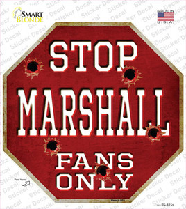 Marshall Fans Only Wholesale Novelty Octagon Sticker Decal
