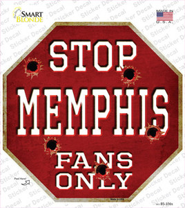 Memphis Fans Only Wholesale Novelty Octagon Sticker Decal