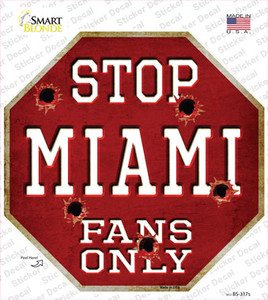 Miami Fans Only Wholesale Novelty Octagon Sticker Decal