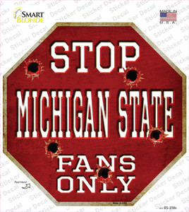 Michigan State Fans Only Wholesale Novelty Octagon Sticker Decal