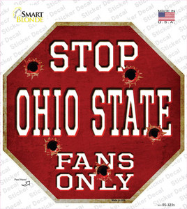 Ohio State Fans Only Wholesale Novelty Octagon Sticker Decal
