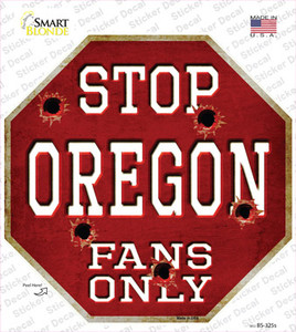 Oregon Fans Only Wholesale Novelty Octagon Sticker Decal