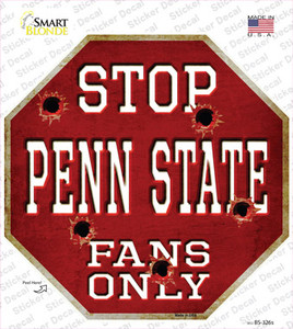 Penn State Fans Only Wholesale Novelty Octagon Sticker Decal