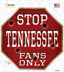 Tennessee Fans Only Wholesale Novelty Octagon Sticker Decal