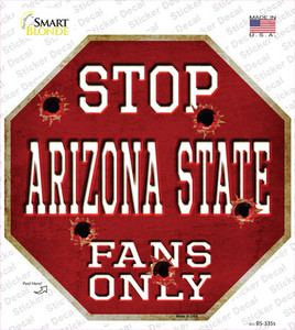 Arizona State Fans Only Wholesale Novelty Octagon Sticker Decal