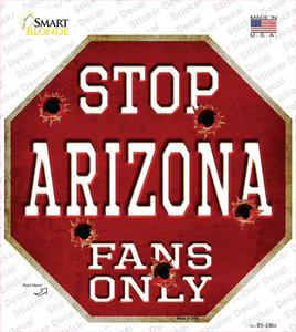 Arizona Fans Only Wholesale Novelty Octagon Sticker Decal