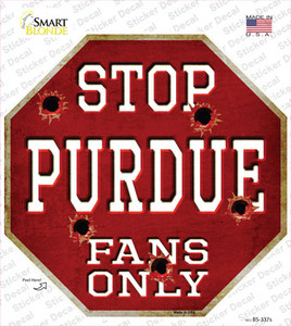 Purdue Fans Only Wholesale Novelty Octagon Sticker Decal