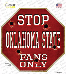 Oklahoma State Fans Only Wholesale Novelty Octagon Sticker Decal
