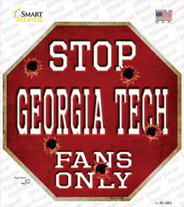 Georgia Tech Fans Only Wholesale Novelty Octagon Sticker Decal