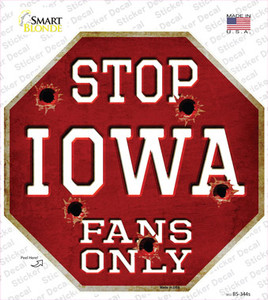 Iowa Fans Only Wholesale Novelty Octagon Sticker Decal
