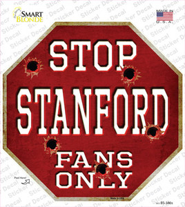 Stanford Fans Only Wholesale Novelty Octagon Sticker Decal