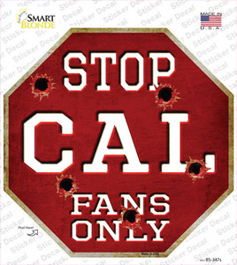 Cal Fans Only Wholesale Novelty Octagon Sticker Decal