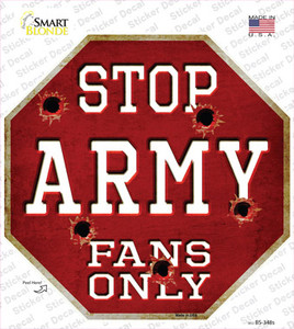 Army Fans Only Wholesale Novelty Octagon Sticker Decal