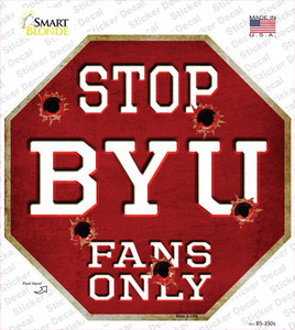 BYU Fans Only Wholesale Novelty Octagon Sticker Decal