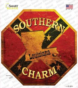 Southern Charm Louisiana Wholesale Novelty Octagon Sticker Decal