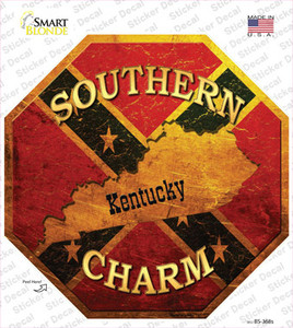 Southern Charm Kentucky Wholesale Novelty Octagon Sticker Decal