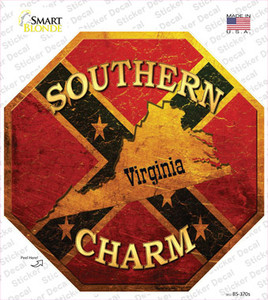 Southern Charm Virginia Wholesale Novelty Octagon Sticker Decal