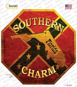 Southern Charm Florida Wholesale Novelty Octagon Sticker Decal