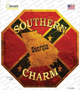 Southern Charm Georgia Wholesale Novelty Octagon Sticker Decal