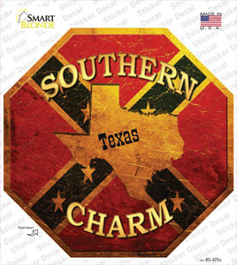 Southern Charm Texas Wholesale Novelty Octagon Sticker Decal