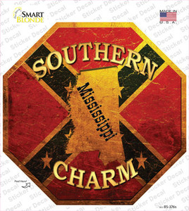 Southern Charm Mississippi Wholesale Novelty Octagon Sticker Decal