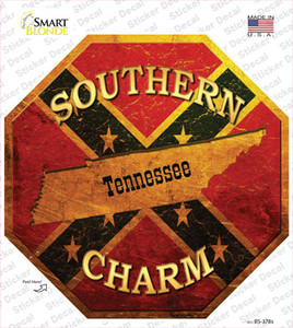 Southern Charm Tennessee Wholesale Novelty Octagon Sticker Decal