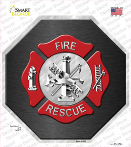 Fire Rescue Wholesale Novelty Octagon Sticker Decal