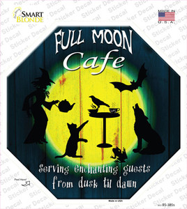 Full Moon Cafe Wholesale Novelty Octagon Sticker Decal