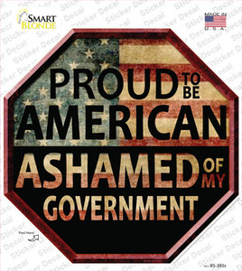 Proud To Be American Wholesale Novelty Octagon Sticker Decal