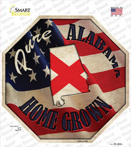 Alabama Home Grown Wholesale Novelty Octagon Sticker Decal