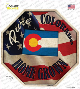 Colorado Home Grown Wholesale Novelty Octagon Sticker Decal