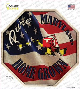 Maryland Home Grown Wholesale Novelty Octagon Sticker Decal