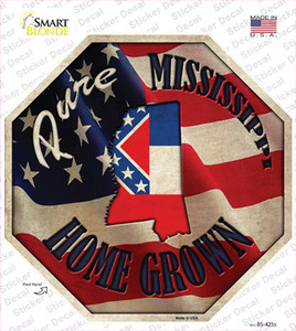 Mississippi Home Grown Wholesale Novelty Octagon Sticker Decal