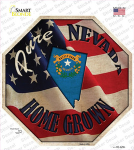 Nevada Home Grown Wholesale Novelty Octagon Sticker Decal