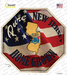 New Jersey Home Grown Wholesale Novelty Octagon Sticker Decal
