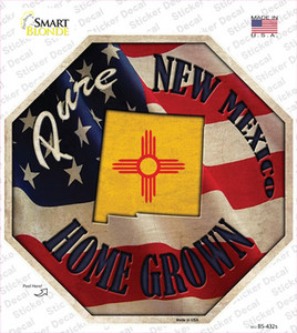 New Mexico Home Grown Wholesale Novelty Octagon Sticker Decal