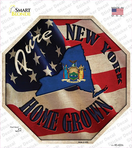 New York Home Grown Wholesale Novelty Octagon Sticker Decal