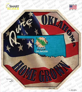 Oklahoma Home Grown Wholesale Novelty Octagon Sticker Decal